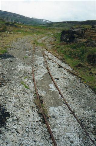 Det britiske 610 mm spor ligger til dels endnu 2001. Foto Sigurdur Gudjonsson.