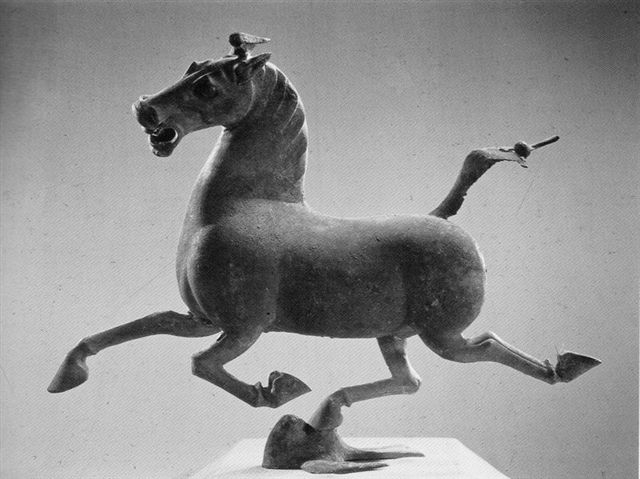 Den flyvende hest fra Leital 1999 i museet i Lanzhou.