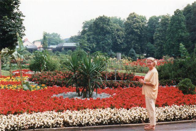 En kurpark i en tysk kurby kan være smuk som her i Bad Eilsen. Om den kunne slå Bad Pyrmont havde jeg ikke råd til at kontrollere, Parken var ikke stor, men flottere kan det næppe fås.