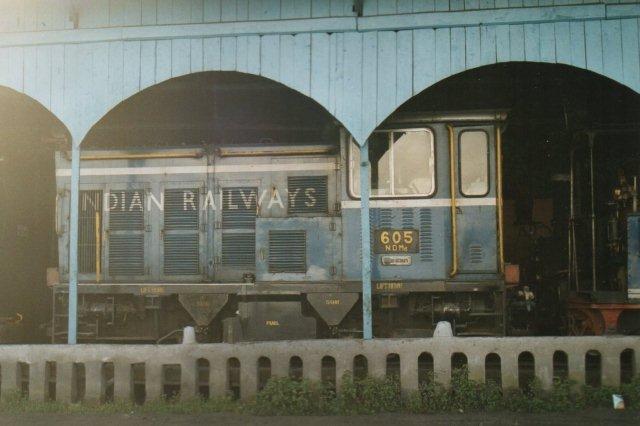 Diesellokomotivet var heldigvis ikke i drift den dag.