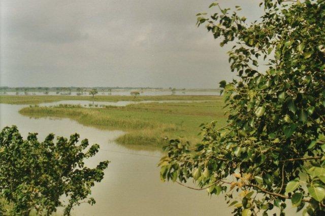 Den oversvømmede Gangesdal, der forsinkede vor fremfærd.