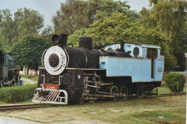 SIR, Nilgiri rack Line meterspor tandhjulslokomotiv bygget i Schweiz i 1920. 38 er museets katalognummer. Driftsnummeret står foran.