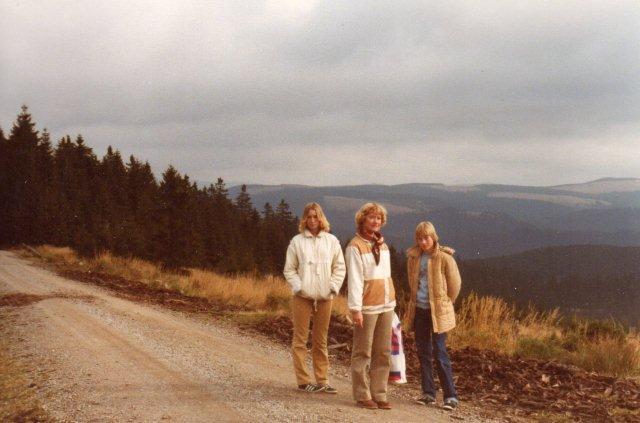 I 1979 længe før nationalparken var der vide udsigter. Det var efterår og ikke helt varmt, så vi har overtøj på.