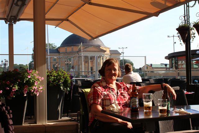 Middag i Karlskrona lige ved domkirken.