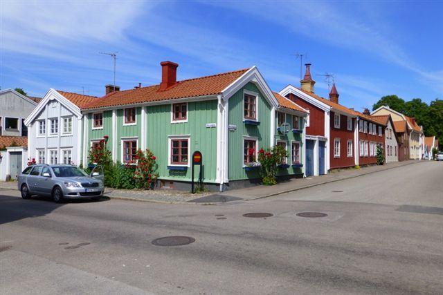 Ren idyl i Kalmar. Mange svenske provinsbyer virkede ret provinsielle, men forstå det positivt - i hvert fald set fra vort synspunkt. 06.07.2013.