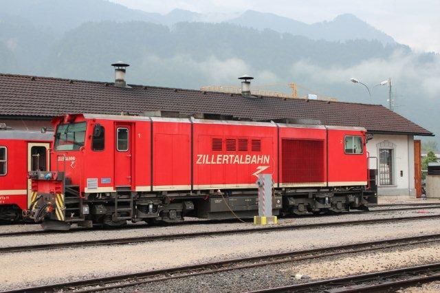 Den røde D 13 stod i reserve i Jenbach 01.09.2013.