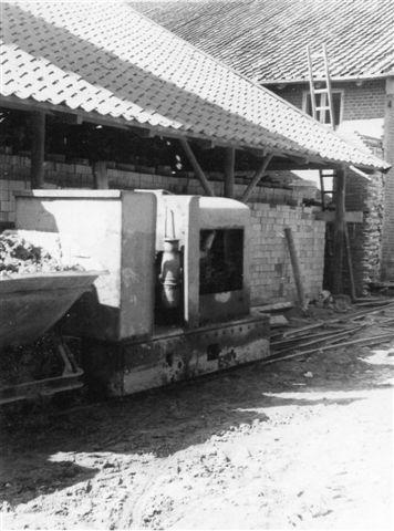 Slet Teglværk. 600 mm bane. Kastrup Maskinfabrik 15/1938. Foto: Svend Guldvang 1966.