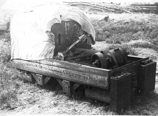 Lokomotivet på Speghøjværket. Foto: Peter Brøndum Nielsen 1978.