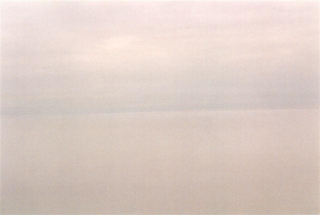 Nordkapp som mange oplever det, i tågedis. Når ret skal være ret, har jeg også været her, hvor der var frit udsyn til Nordpolen. På billedet er det dag, men udsigten ville have været den samme ved midnatstide.