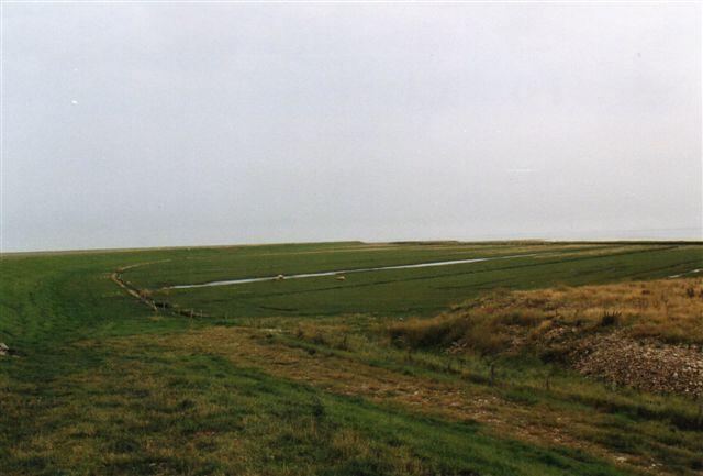 Bag Juvrediget findes et stykke marsk ud mod Vadehavet, men det måtte man give tilbage til havet efter Rømødæmninges anlæg. Den fulgte nemlig ikke vandskellet, men lå noget sydligere, så vader, der hidtil var blevet overslyllet fra syd nu skulle overslylles fra nord med er større pril til følge og derfor stærkere strøm i Juvredyb. Strømmen gnavede et stykke af det oprindelige dig, så man måtte bygge et nyt længere inde. Billedet er fra 2005.