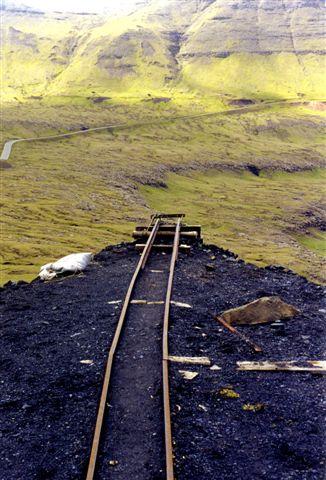 Udsigt fra minen over dalen nedenfor.