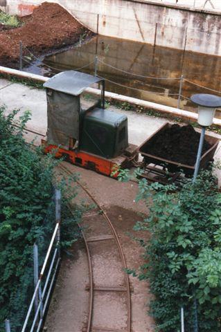 Her ses toget fra fodstien, der nu ligger på Bad Eilsener Kleinbanens gamle trache.