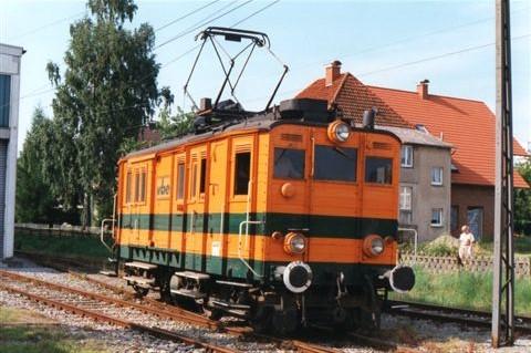 Extertalbahns godstogslokomotiv i Extertal også kladet Bösingfeld 1995.