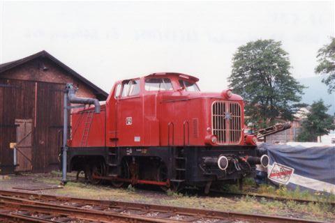 DEW 8, Henschel 28637/1956 i Rinteln 1995. Lokomotivet er fra Schleswiger Kreisbahnen, hvor jeg tidligere har set det.