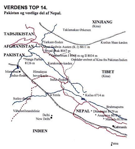 Himalayas vestlige del.