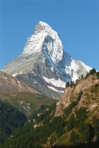 Matterhorn (4478 meter) set fra Zermatt. 2009.