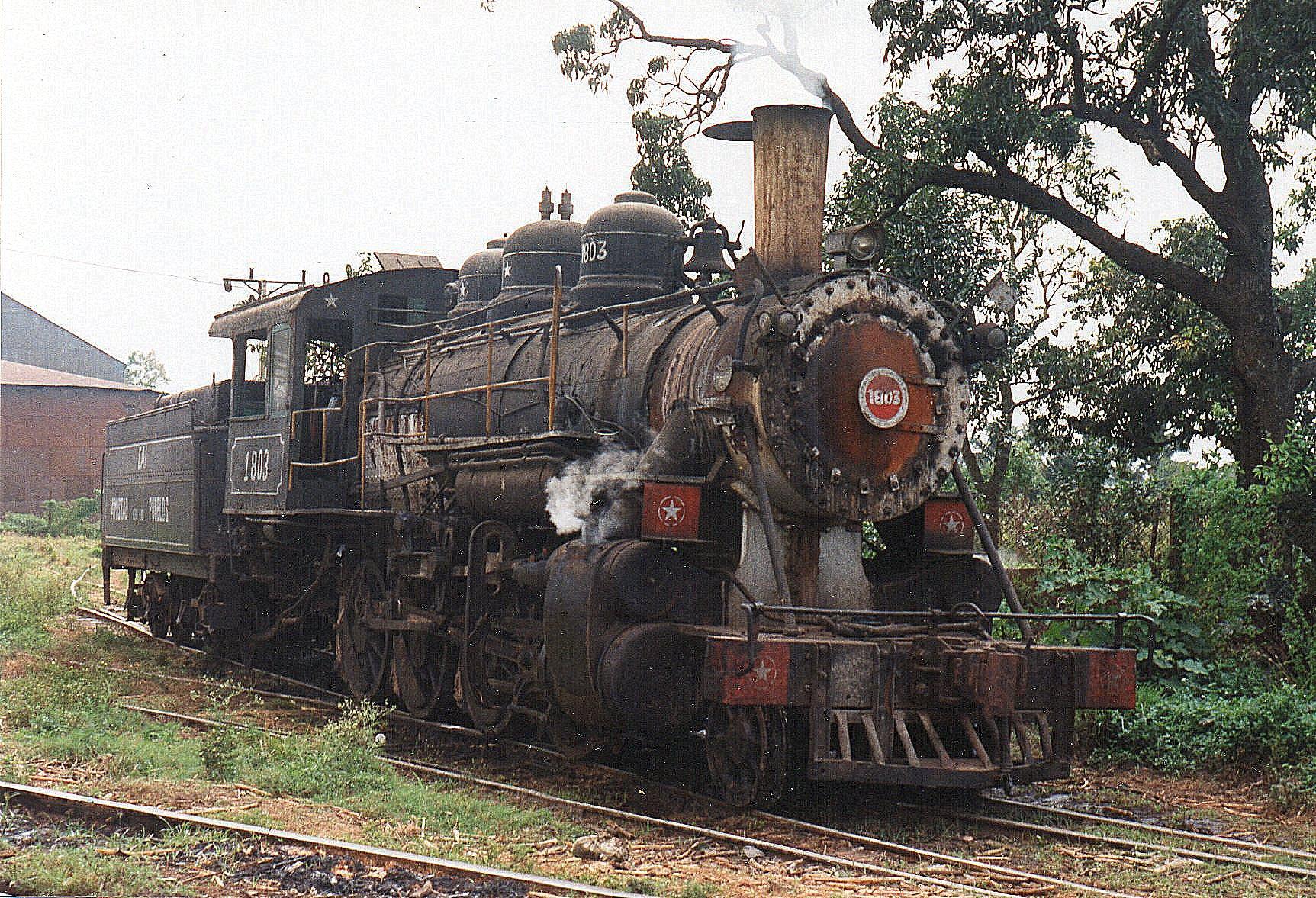Cai 201, Amistad con los Pueblos 1803, Baldwin 52195/1920 syd for Havana var turens første damplokomotiv. 1'D-koblet og i næsthøjeste trakkraftklasse. Møllenavnet betyder Venskab mellem Folkene, aet meget brugt navn eller slagord i socialistiske lande.
