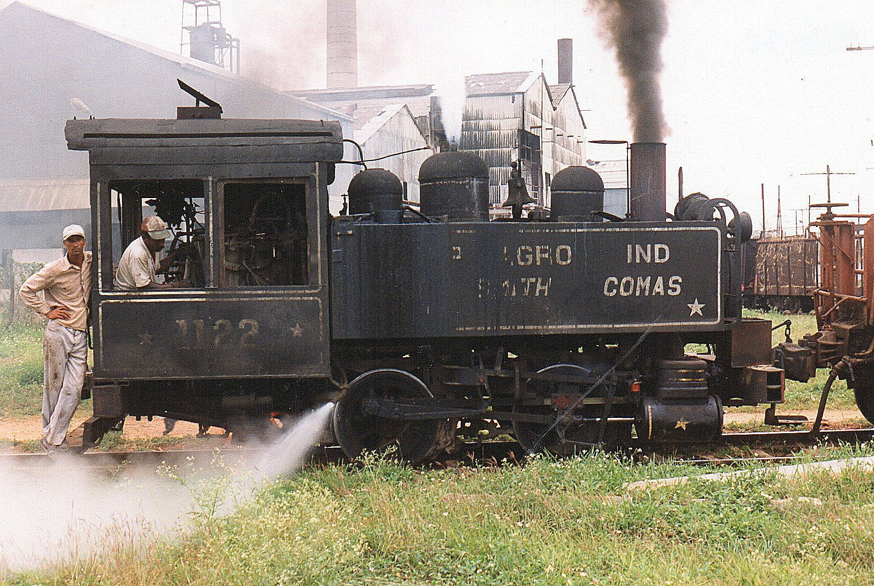 CAI 315 Jose Smith Conas 1122, Porter 4437/1909. Den eneste B-koblede damprangermaskine, jeg så. Vi er nu nær feriestedet Varadero.
