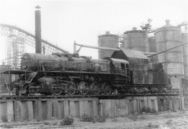 I Agigea Syd stod denne dampproducent opklodset og røg med sort røg, som jeg så fra stranden hver dag. Den havde tidligere været CFR 150 029 bygget af Resita som nr. 714 mellem 1951 og 55.