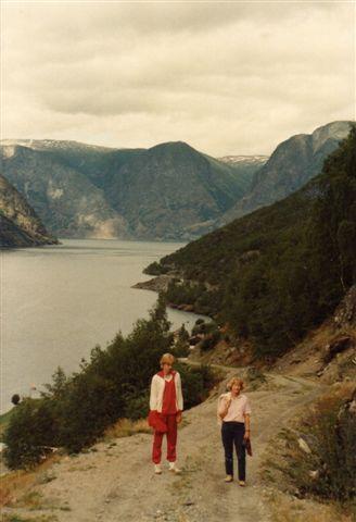 Fra en anden fjeldvej op til en gammel landsby Ottenes højt over Sognefjorden. 1983.