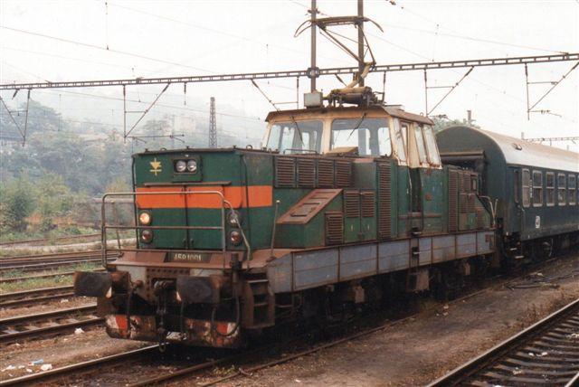CD 458 1001-4, Skoda 7588/1981 var en af rangermaskinerne i Praha-Smichov.