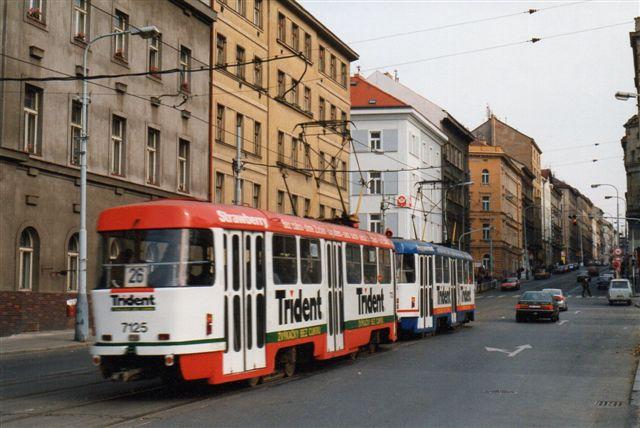 CKD-sporvogne i Prag. Jeg brugte ikke min tid på sporvogne, men disse CKD'er sås også overalt i Østblokken.