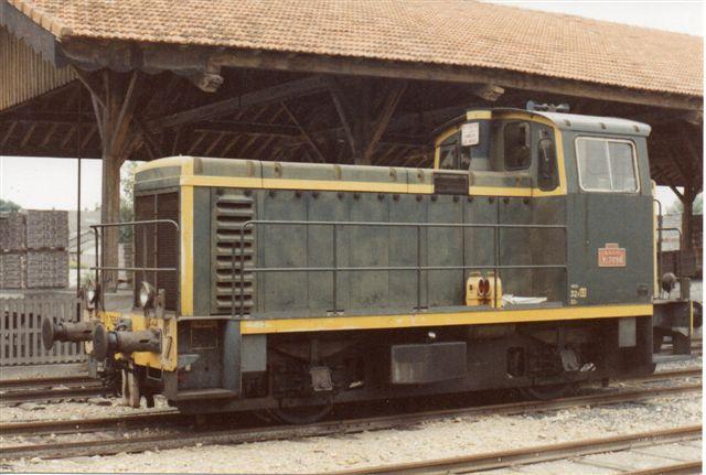 SNCF Y 7494 fra Moyse 1969 var rangermaskine i Beaucaire 1988.