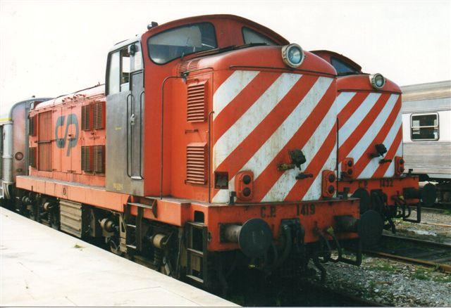 CP 101 1419-6 og 1432 begge uden plade. Sorofame bygget på licens fra English Elektric Co. ?/1967.