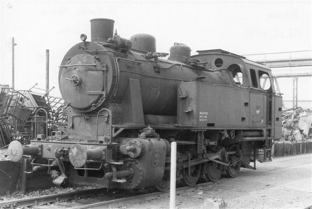 Stadtwerke Hamm, Hafenbahn uden nr., Jung 11704/1953. Lokomotivet blev foreviget, da det var hensat til udrangering. Foto: Günter Krall 1973.