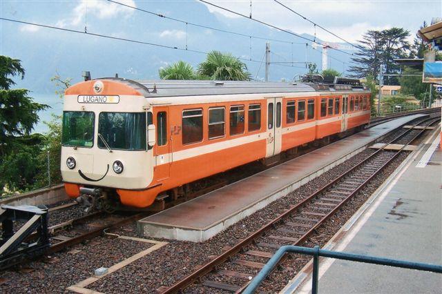 FLP uden synligt nummer i Lugano 2009. Ingen af banens tre sete togsæt havde nummer. Litraet skulle dog være Be 4/8, idet den er uombygget.