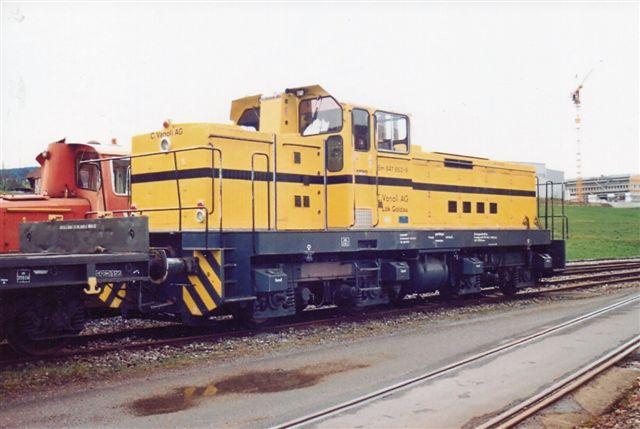 Vanoli Bm 847 853-9, Goldau, Henschel 31948/1977. Tidligere Varde - Nr. Nebel Jernbane DL 14. Foto: J. Jochim Rosenthal i Samstagern 2009.