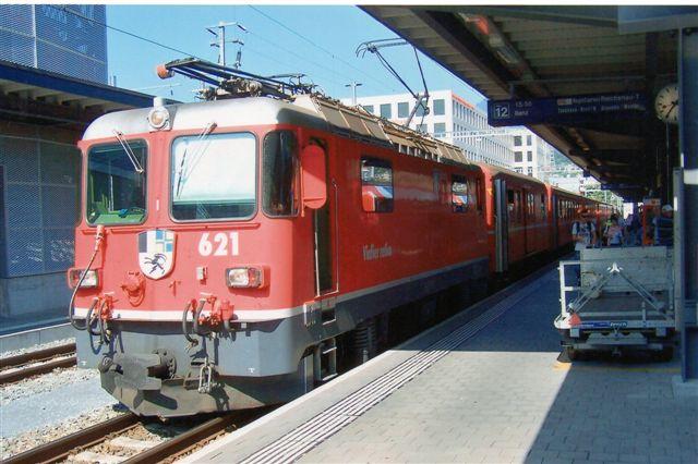 RhB Ge 4/4 621, Felsberg, der er fra 1984. Foto fra Chur 2009.