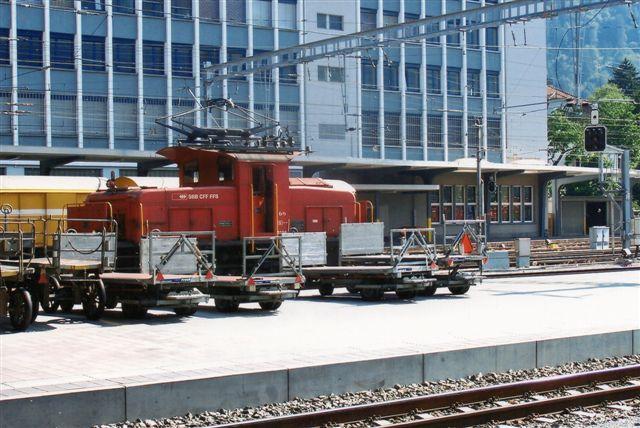 SBB 13 423. SBB Ee 2/3 ? i Chur 2009. Elektrisk rangerlokomotiv.