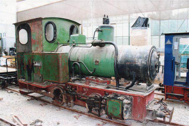 Schinznach Baumschulbahn Lucas. En O&K under restaurering. 2012.
