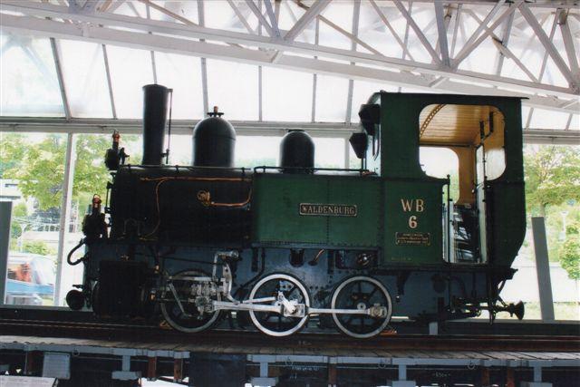 WB 6, Waldenburg. Typen er G 3/3, og lokomotivet er bygget 1912. Foto på Trafikmuseet i Luzern 2012.