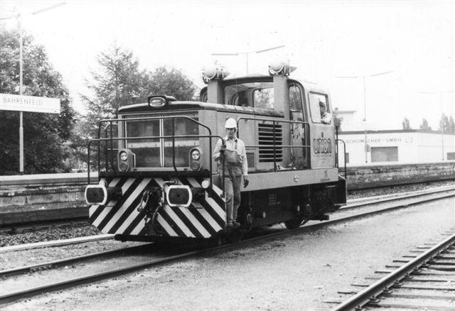 Lokomotivet i nærbillede lige syd for Bahrenfeld S-station.