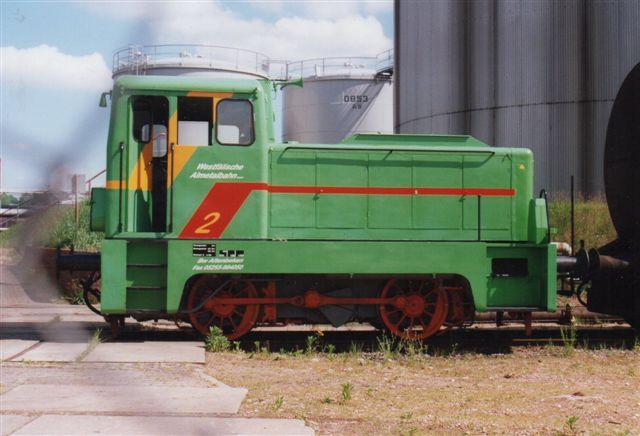 I 2001 havde firmaet lejet WAB 2, WestfälischeAlmetalbahn ex. Vopo 11. LKM