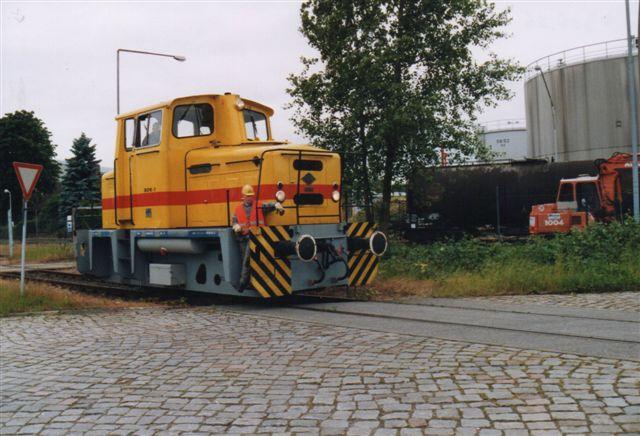 """Næste år var der igen """"nyt"""" lokomotiv, 04 fra Sulo, Herford. 1, O&K 26732/1971. MB 10 N. Foto 2005."""