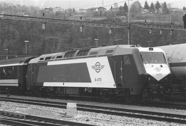 CEH A 475 på prøvetur i Brig på Bern - Lötschberg - Simplon Banen i 1998 set af Günther Barths.