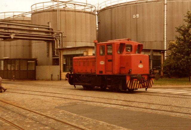 Deutsche Texaco AG, Werk Grasbrook Karl, Krupp 2528/1952. 28 t 147 kW. Det har indtil 1971 kørt i Heide. Foto fra 1983.