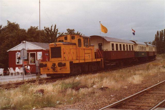 SHM 48, Baume og Marpent ?/1953 tidligere Hoogovens. I remisen så jeg flere industribanelokomtoiver blandt andet fra tyske eschweiler Bergbauverein. Hoogovens, Højovn! er det hollandske stålverk,