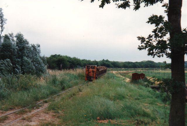 På vejen passerede toget ældre grave.
