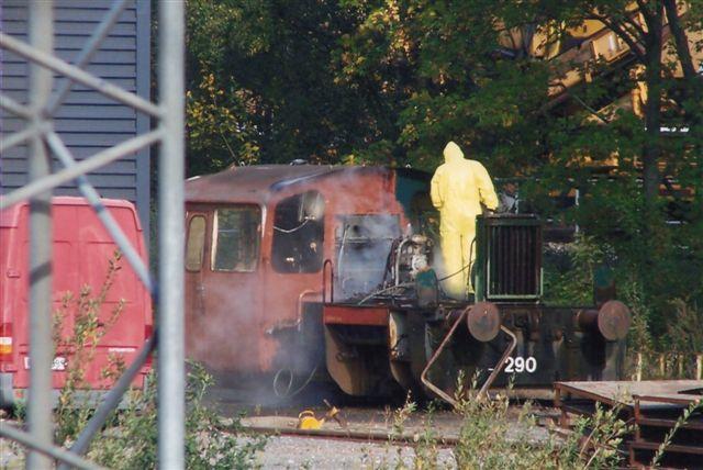 Køf 290 holder adskilt uden motor, men efter et års tid var den på benene igen. Foto: Bent Hansen 2009.