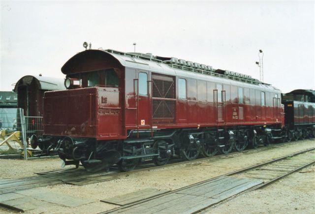 """Mx 132 på Jernbanemuseet i Odense i forbindelse med udstillingen """"Made in Germany."""" Desværre fotograferede jeg ikke mens tid var. Foto: Bent Hansen 2006."""