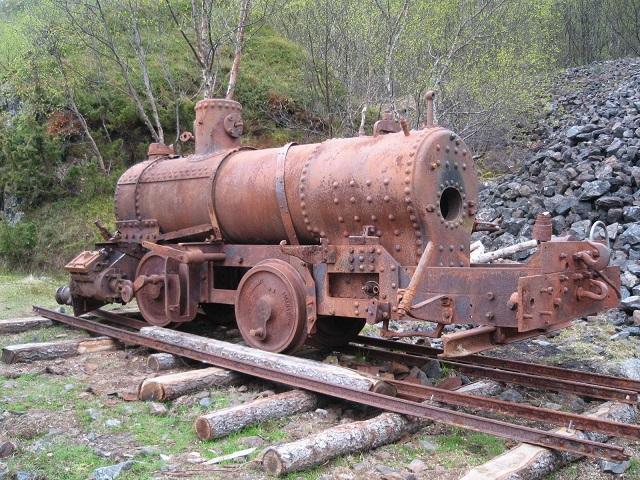 Bjarkøy-lokomotivet delvist samlet i 2007