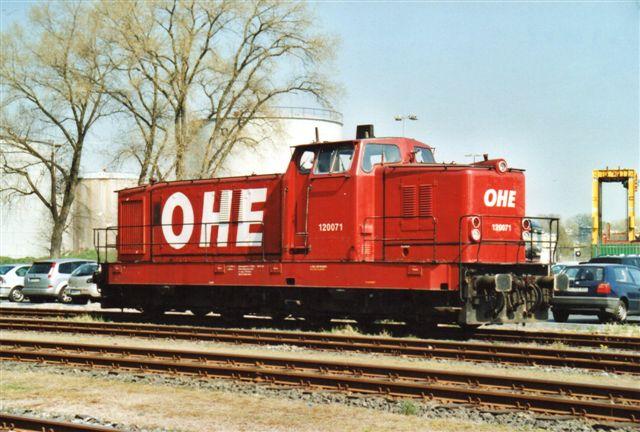 I 2008 holdt OHE 120 071 i området. Det var blevet moderne at kvitte DB og leje sig ind hos mere kommunale selskaber.