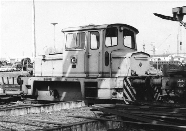 HDW 1, O&K 26697/1970 MB125N. Billedet er taget af Ulrich Völz 1982. Da jeg kom frem, var det væk.