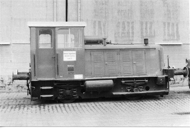 Hansa Lagerhaus 2, O&K 25143/1961 MV6B. 140 hk. 24 t. 1983.