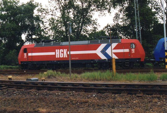 2005 holdt HGK 145-CL 012 hvil op Hohe Schaar. HGK er Kølns Havne- og godsbaner.