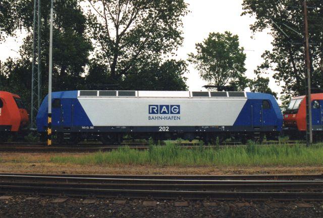 Også RAG 202 var der. RAG er Ruhrkohle. I takt med at kulminerne lukker, må firmaet finde anden beskæftigelse for materiellet. 2005.